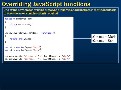 tutorial on javascript functions sql server net and c video tutorial overriding