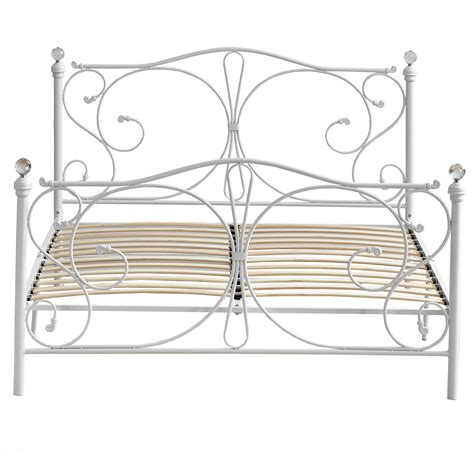Bed Frames Au New Classical White Metal Bed Frame Ebay