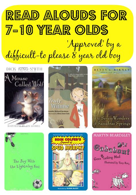 picture books for 8 year olds read alouds for 7 10 year olds approved by a difficult to