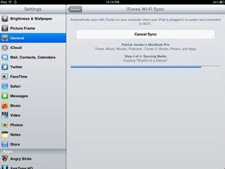 how to sync your ios 5 enabled ipad 2 via wi fi