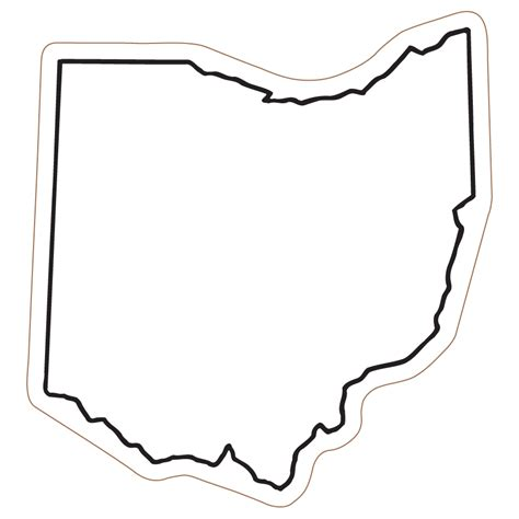template of state state of ohio outline clipart best