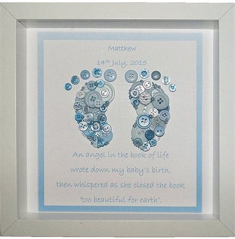 feet angel baby keepsake button art