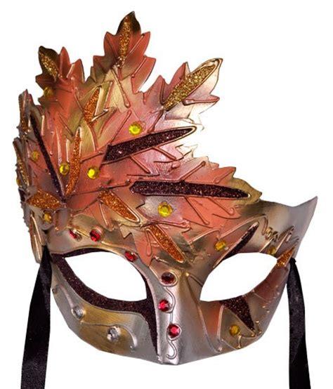 printable leaf mask autumn leaf terracotta venetian mask