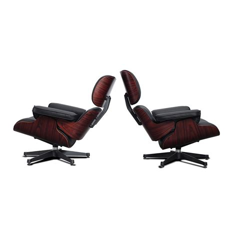replica eames lounge and ottoman rosewood with black eames style lounge chair and ottoman black leather