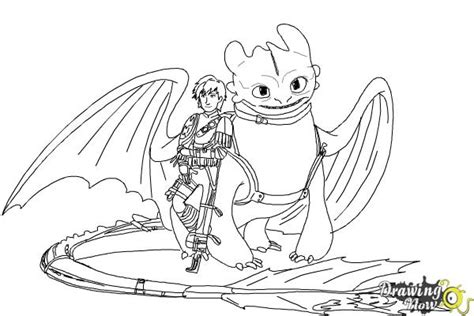 toothless and hiccup coloring pages
