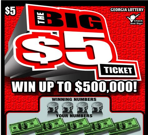 Lotto Sweepstake - georgia lottery winner takes home 500 000 from the big 5 ticket freelotto