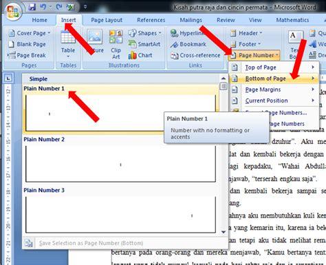 membuat halaman beda word 2007 fardian imam m membuat halaman beda pada microsoft word