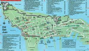 San Juan Puerto Rico Map by Old San Juan Tourist Map Quotes