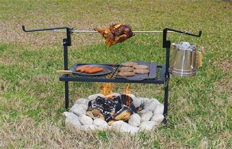 Backyard Rotisserie Outdoor Cing Rotisserie Grill And Spit Home Design