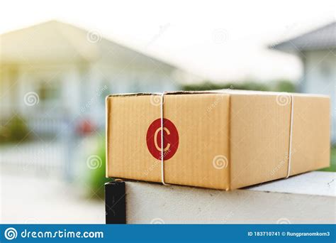 post office box  front   house stock image image  carry post