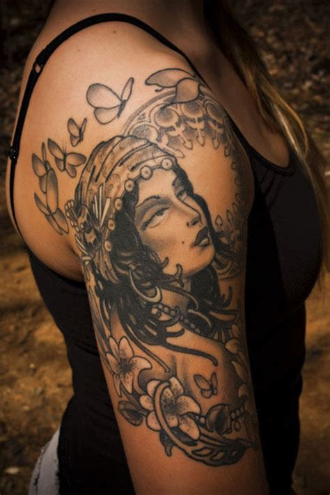 gypsy woman tattoo 25 designs tattoos