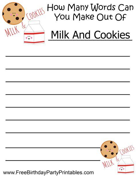 diy birthday free diy milk and cookie birthday