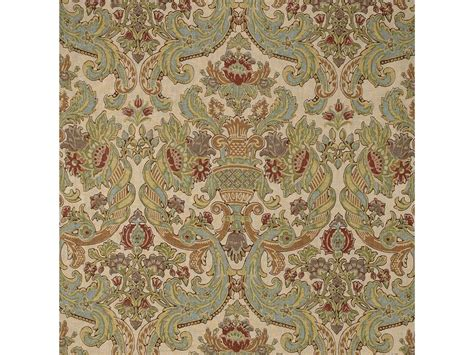 FRENCH COUNTRY POTTERY BARN LINEN FABRIC BEIGE GREEN ORANGE RUST