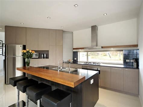 modern island kitchen design using granite kitchen photo