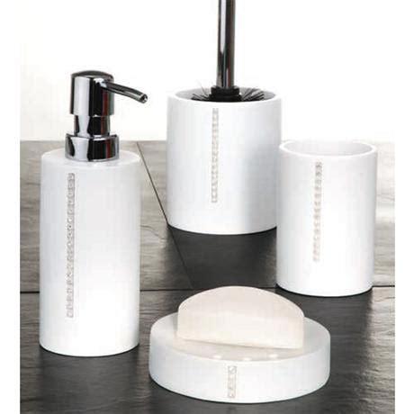 diamond bathroom set wenko diamond bathroom accessories set white at