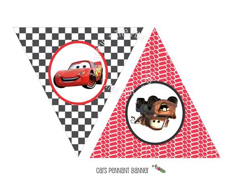disney cars happy birthday banner printable printable cars lightning mcqueen themed happy birthday