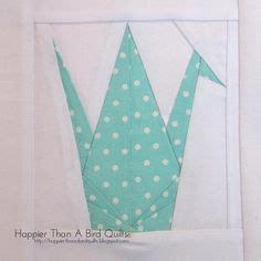 Origami Crane Quilt Pattern - paper pieced crane quilt blocks from japan layout ideas