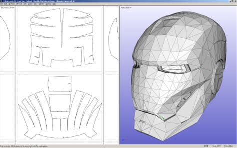 Papercraft Helmet Pdf - ultimate papercraft 3d