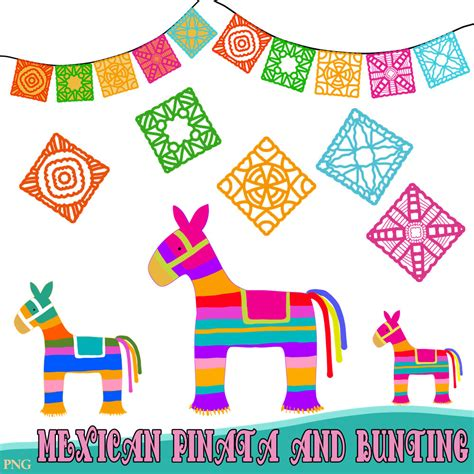 festa clipart mexican pinatas and bunting clipart comes in png
