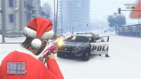 gta  santa rampage merry christmas gta  christmas update snow santa elves reindeer