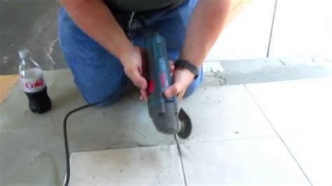 How To Remove Grout From Floor by Bosch Mx25e Multi Tool Removing Floor Grout