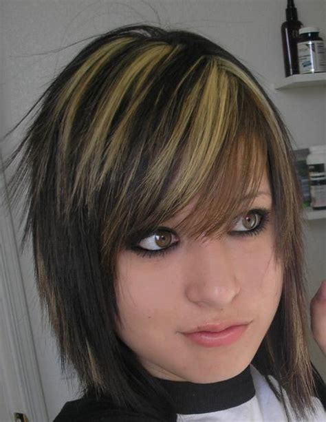 emo hairstyles with highlights hairstyles popular 2012 emo blonde hair highlights