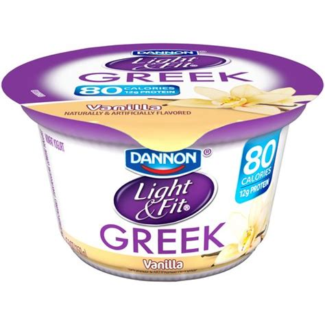 dannon light and fit yogurt drink dannon light fit greek vanilla nonfat yogurt 5 3 oz