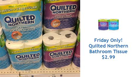 Quilted Northern Bath Tissue Coupons by Quilted Northern Bath Tissue 6 Mega Rolls Only 2 99 Today