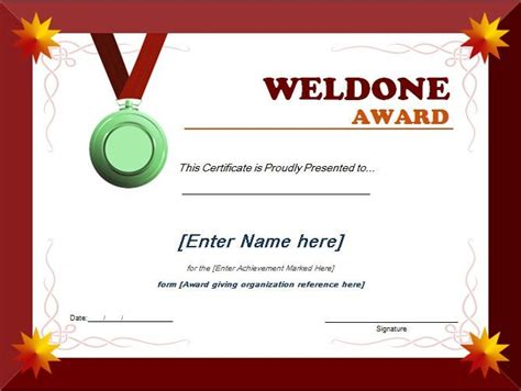 school award certificate templates well done award certificate can be used by schools