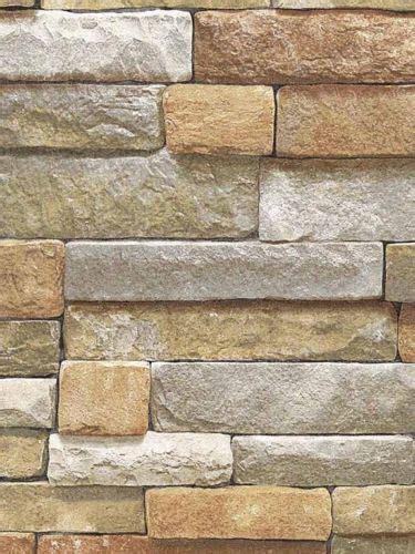 Salle De Bain Parement 623 by Wallpaper Faux Cut Gray Rock Wall Lodge Look