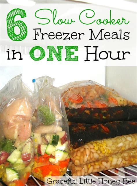 6 slow cooker freezer meals in one hour graceful little
