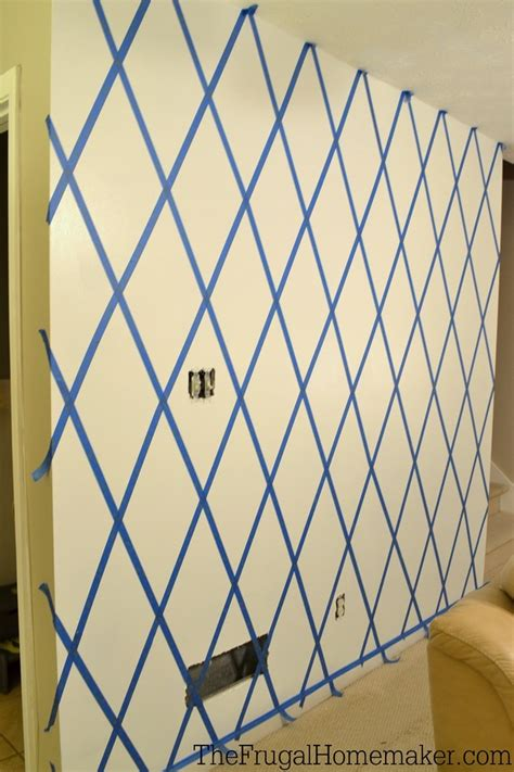 how to paint a diamond pattern on your wall maison d or how to paint a diamond accent wall with scotchblue tape