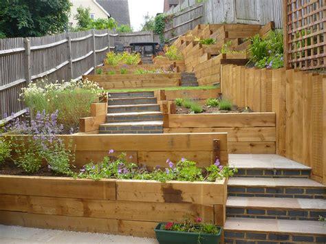 Landscaping Ideas For Sloping Gardens Child Friendly Terraced Garden Search Backyard Pinterest Child Friendly
