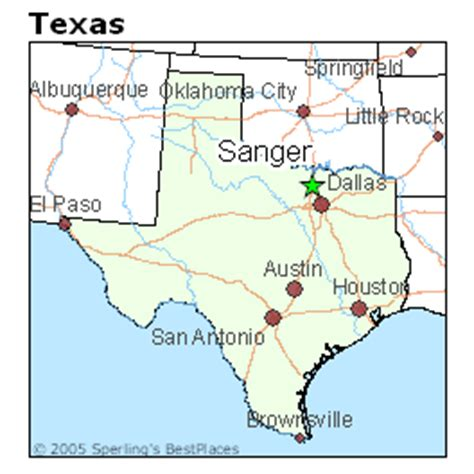 map of sanger texas best places to live in sanger texas