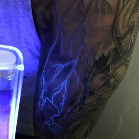 glow in the dark tattoo los angeles 60 glow in the dark tattoos for men uv black light ink