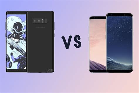 Samsung Note 8 Dan S8 samsung galaxy note 8 vs galaxy s8 vs s8 what s the rumoured difference gearopen