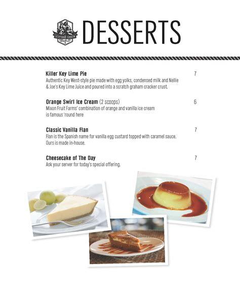 Come With Me Graduation Menu Dessert by 99 Restaurant Dessert Menu
