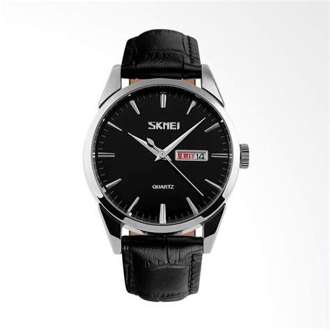 Terbatas Jam Tangan Pria Original Skmei Trendy Stainless jual skmei jam tangan pria hitam 9073 a harga kualitas terjamin blibli