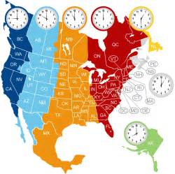 area code time zones canada map