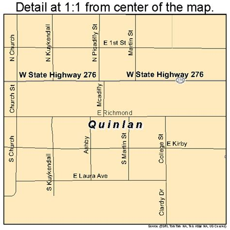 quinlan texas map quinlan texas map 4860140