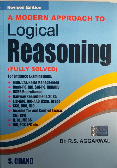 Mba Entrance Book By Rs Aggarwal by A Modern Approach To Logical Reasoning By Aggarwal R S