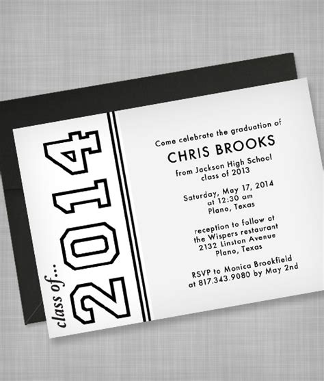 graduation invitation templates free word high school graduation invitation template print