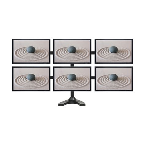 6 monitor desk mount hex lcd 6 monitor stand desk mount adjustable curved free
