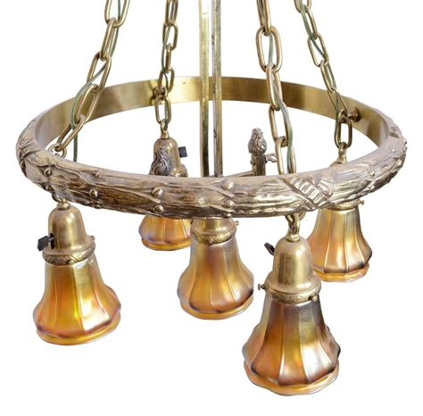 Cast Brass Polished Gas Electric Chandelier With Original Gas Light Chandelier