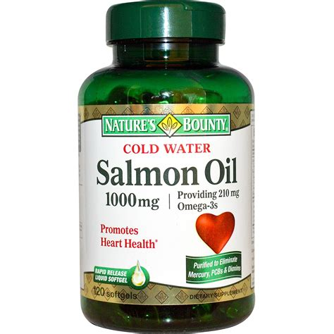 Nature's Bounty, Cold Water Salmon Oil, 1000 mg, 120 Softgels   iHerb.com
