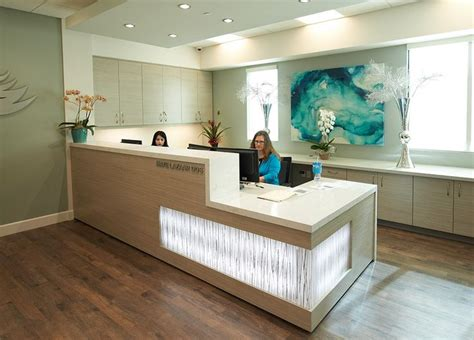 medical front office layout reception area at smiles by design dentistry http www