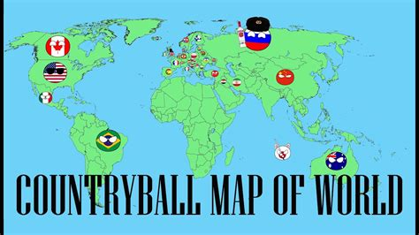 creating  countryball map  world timelapse