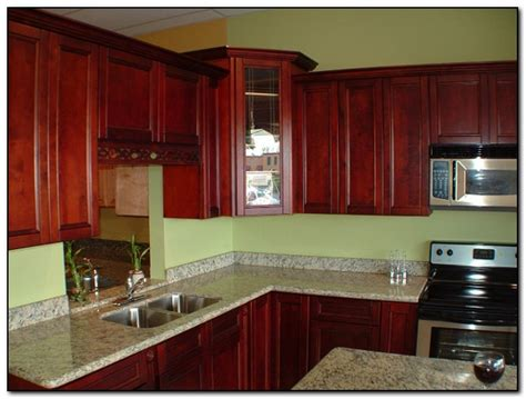 salmon walls in kitchens cherry cabinet kitchen design ideas