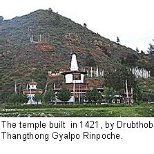 Tahangtong Stainless between 1449 and 1456 he built the riwoche stupa in a breathtaking setting on the banks of the