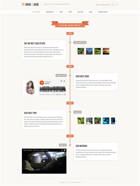 Website Timeline Template by Timeline Website Templates Timeline Website Template